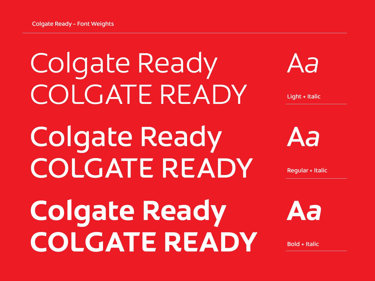 Colgate - Custom font design | Fontsmith