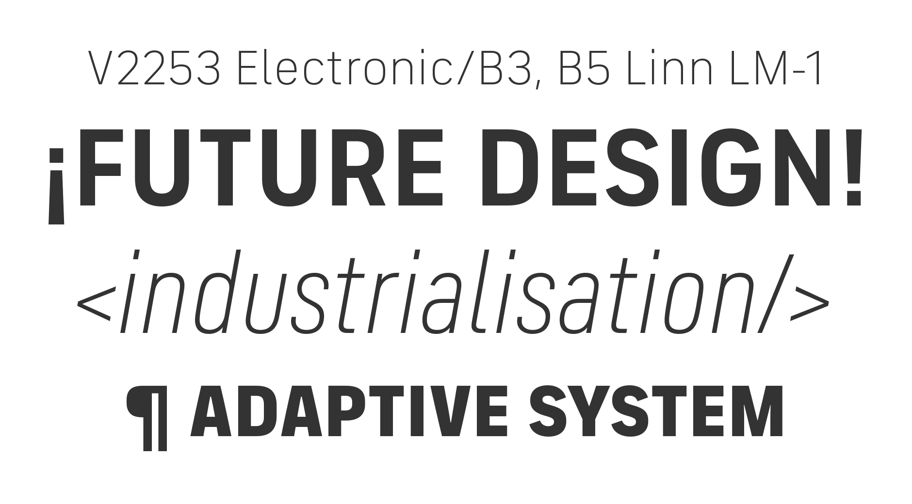FS Industrie | Fontsmith